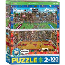 Basketball & American Football, 2x100 pieces