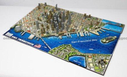 Buy the puzzle San Francisco USA 4D 1000 pieces