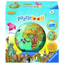 3D: Childrens World Map, 108 pieces