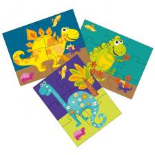 Happy Dinosaurs, 3-in-1, 4 pieces