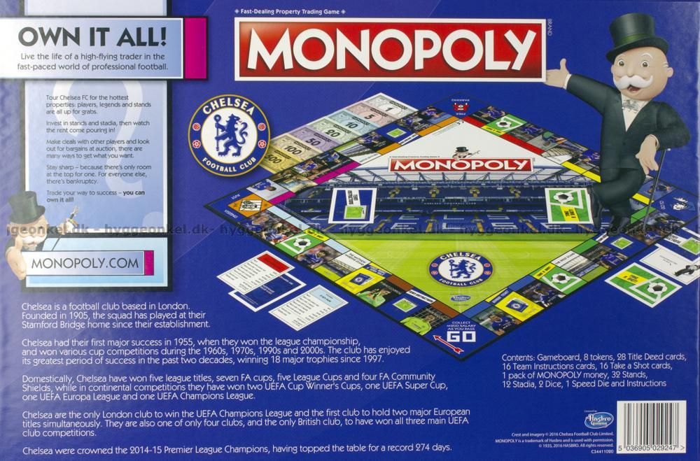 Monopoly Chelsea Fc Edition Kb Det Billigt I Dag