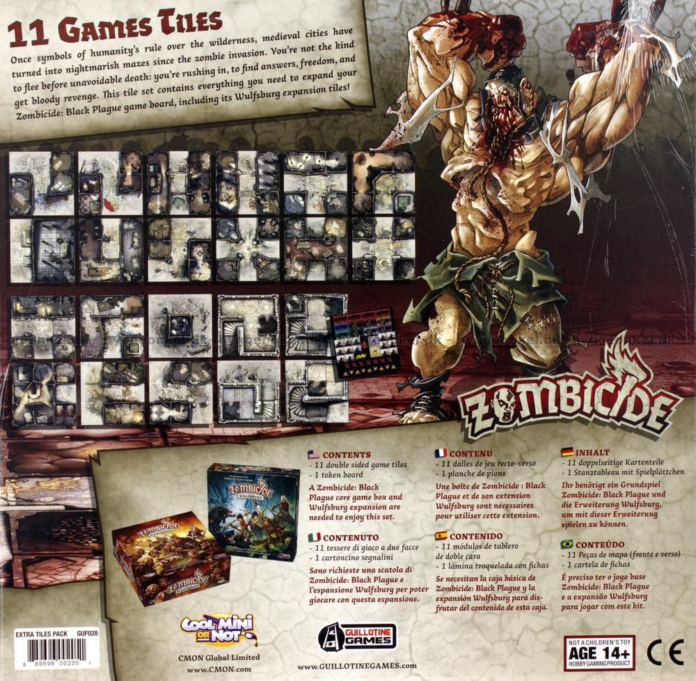 Zombicide Black Plague 11 Games Tiles K 248 B Det Billigt I